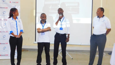 Skytop CEO, Mr. Paniel Mwaura(right) introduces the Skytop Team
